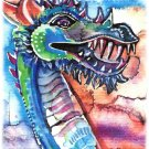 """Dragon Laugh"" Watercolor Painting Print"