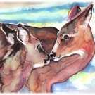 """White-tailed Deer"" Watercolor Painting Print"