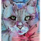 """Tabby Cat"" Watercolor Painting Print"