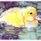"""Puddle Duckling"" Watercolor Painting Print"