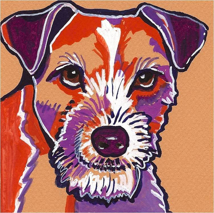 """Jack Russell Terrier"" Watercolor Painting Print"