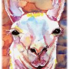 """Llama"" Watercolor Painting Print"