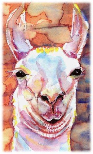 """Llama"" Watercolor Painting Print"