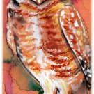 """Burrowing Owl"" Watercolor Painting Print"