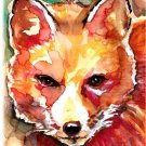 """Red Fox"" Watercolor Painting Print"