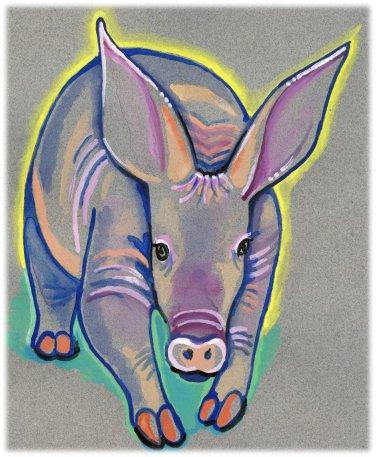"""""""Aardvark"""" Watercolor Painting Print"""