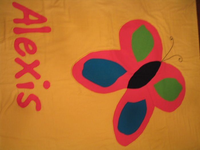 Personalized Butterfly 100% Cotton Quilt  ALEXIS**JUST REDUCED**