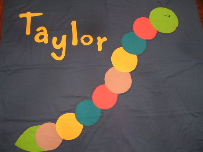 Personalized Caterpillar 100% Cotton Quilt TAYLOR **JUST REDUCED