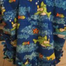 Fish Fleece Baby Blanket JUST REDUCED