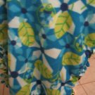 Fleece Blue And Green Fish Blanket For Newborn- baby JUST REDUCED HALF