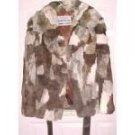 100% Rabbit Fur Coat Vintage Sz Med
