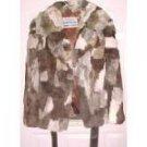 100% Rabbit Fur Coat Vintage Sz Med