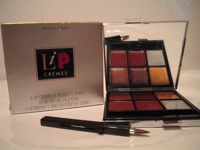 MARY KAY 6 Lip cremes and lip brush GIFT **JUST REDUCED HALF PRICE**