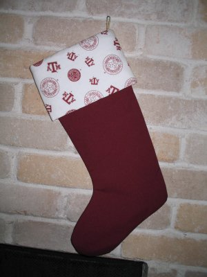 Texas A&M Christmas Stocking- Unique & One-of-a-Kind- Handmade **JUST REDUCED HALF PRICE**
