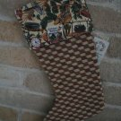 Hunting, Fishing, Camping Christmas Stocking for Man- One of a Kind- **JUST REDUCED HALF PRICE**