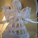 White ANGEL Crochet Christmas Tree Ornament Buy 1 or the Set of 6