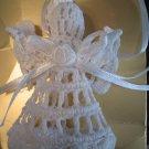 White ANGEL Crochet Christmas Tree Ornament Buy 1 or the Set of 6