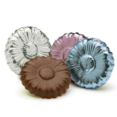 Flower Shape Milk Chocolate Coins case of 250 Corporate Tradeshow Promotion Giveaways