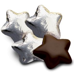 Silver Foiled Dark Chocolate STARS Bag of 34 Corporate Tradeshow Promotion Giveaways