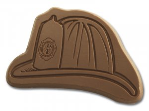 50 Fireman's Hat Shaped Engraved Chocolate Corporate Tradeshow Giveaways