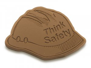 50 Hard Hat Think Safety Engraved Chocolate Corporate Tradeshow Giveaways