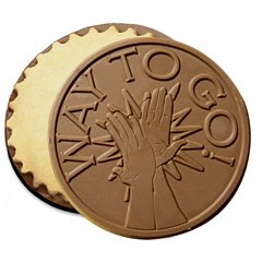 50 Way To Go Engraved Chocolate Covered Cookies Corporate Tradeshow Giveaways