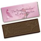 50 Breast Cancer Awareness Engraved Dark Chocolate Bars for Clients or Tradeshow Give-a-ways