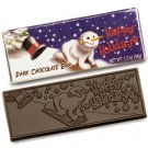 50 Happy Holidays Engraved Dark Chocolate Bars for Clients or Party Guests