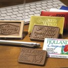250 CUSTOM ENGRAVED BUSINESS CARDS Milk Chocolate