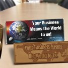 50 Your Business Means the World to Us Engraved Chocolate Bars for Clients or Tradeshow Give-a-ways