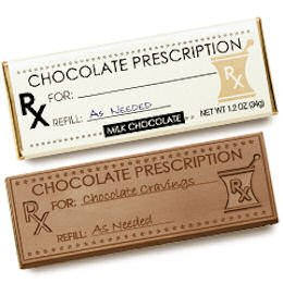 50 Pharmacy PRESCRIPTION Engraved Milk Chocolate Bars for Clients or Tradshow Give-a-ways