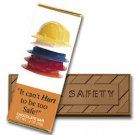 50 SAFETY Engraved Milk Chocolate Bars for Clients or Tradeshow Give-a-ways