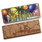 50 Happy Birthday Engraved Milk Chocolate Bars for Party Guests or Employees