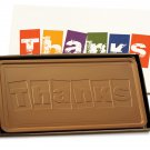 2 lb Pounds THANKS A MILLION Bars CASE OF 5  Milk Chocolate Bar Engraved for Clients or as a Gift