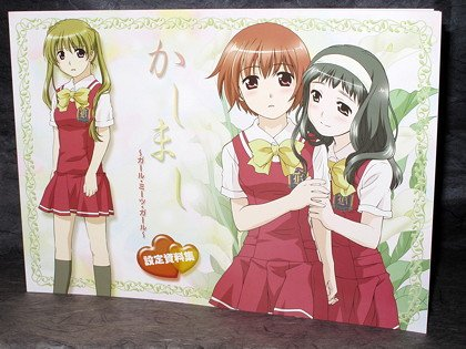 KASHIMASHI GIRL MEETS GIRL ANIME SKETCH BOOK ART NEW