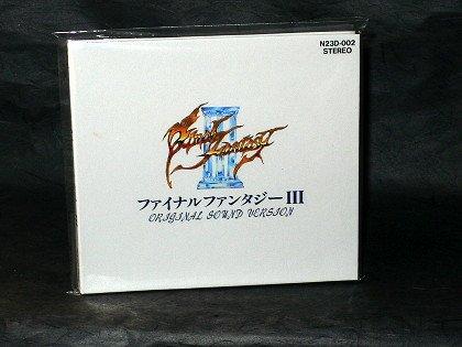 FINAL FANTASY III NES FAMICOM GAME MUSIC CD BOOK 1ST