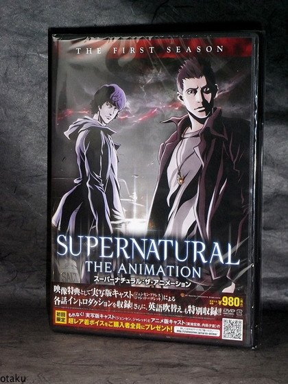 SUPERNATURAL ANIMATION 1st Season 1 Japan Anime DVD NEW