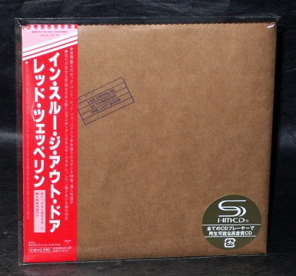 LED ZEPPELIN IN THROUGH THE OUT DOOR Japan SHM CD MINI LP Sleeve WPCR-13140 NEW