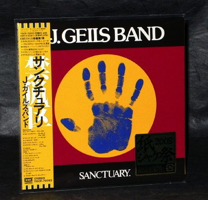 J. GEILS BAND SANCTUARY JAPAN CD MINI LP SLEEVE TOCP-70593 NEW