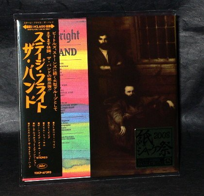 THE BAND STAGE FRIGHT Japan CD IN MINI LP SLEEVE TOCP-67393 NEW