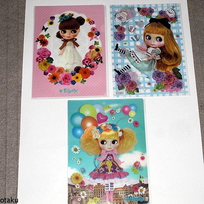 Blythe Set of 11 Clear files Hasbro Genuine Japan NEW