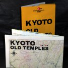 KYOTO OLD TEMPLES GUIDE LARGE TRAVEL MAP ENGLISH NEW