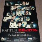 Kat-Tun Japan Johnnys Boy Band Original Large Poster ☆ NEW ☆