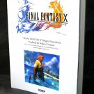 Final Fantasy X Original Soundtrack Piano Score BOOK Japan NEW