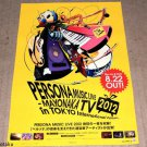 PERSONA Music Live 2012 Mayonaka TV in Tokyo Japan Large Poster  ☆ NEW ☆