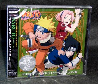 NARUTO ORIGINAL SOUNDTRACK III JAPAN ANIME MUSIC CD NEW