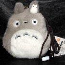 Totoro Clasp Purse Gamaguchi Fluffy Cell Phone Pouch Ghibli Japan Original NEW
