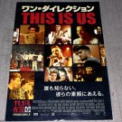 One Direction This is Us Movie Film Full Size Large Poster Japan NEW