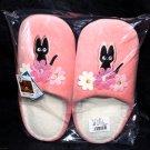 Kiki's Delivery Service Jiji Cat Slippers Pink Color Ghibli Hayao Miyazaki NEW