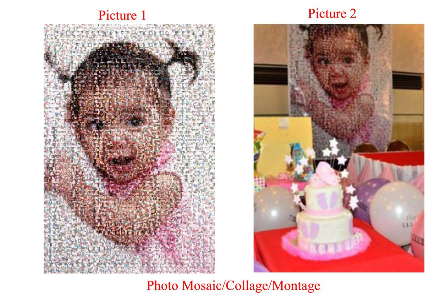 Personalized Photo Collage Montage Mosaic
